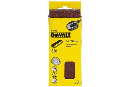 dewalt schuurband k80 dt3664-qz 64x356mm (set van 3 stuks)