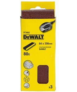 dewalt schuurband k80 dt3662-qz 64x356mm (set van 3 stuks)