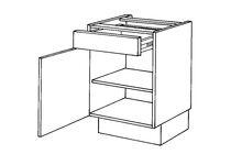BRUYNZEEL Onderkast Thema Wit Links 170Gr Scharnieren 45x51,5cm