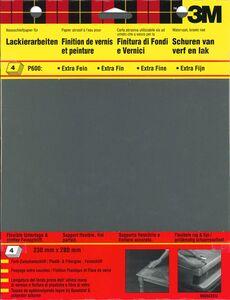 3m schuurvel wet or dry p600 zwart (set van 4 stuks)