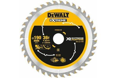 DEWALT DT99563-QZ Cirkelzaagblad Xtreme Runtime 36-tands 190x30mm