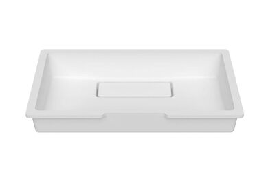 Krion Solid Surface Spoelbak B828 E Solid Surface Snow White 480x280x121,5mm