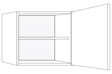 BRIBUS Bovenkast Eco W-350 R FSC 571x500mm
