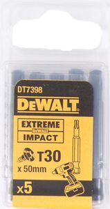 dewalt torx impact 50mm t30 dt7398-qz (set van 5 stuks)