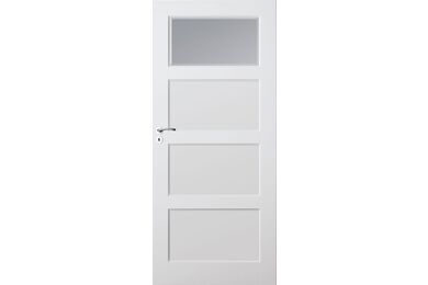 SKANTRAE SKS 1235 C1 Facet Blank Glas Stompe Deur FSC 680x2015mm