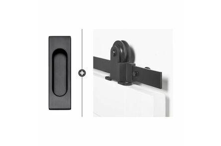 skantrae hang- en sluitwerkpak hsp532 schuifdeursysteem  foxtrot greep recta zwart