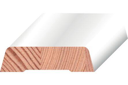 q-pine koplat sch. afgelakt ral 9010  12x45x4800