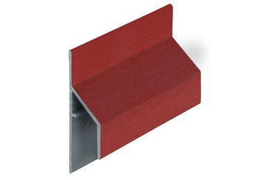 KERALIT 2810 Trim/Kraal Aansluitprofiel 17mm Rood Classic Nerf 6000mm