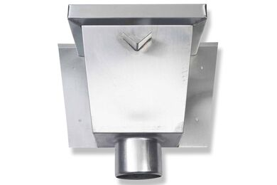 RHEINZINK Vergaarbak Vierkant Walsblank 80mm