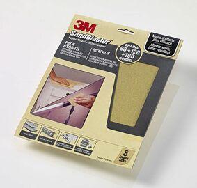 3m schuurvellen sandblaster p80-p120-p180 mix 3st