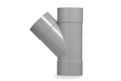 MARTENS PVC T-stuk 3x Lijmmof 45° 75mm