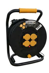 relectric pro kabelhaspel 4-Voudig IP44 3000w 230v 3x1,5mm2 50m