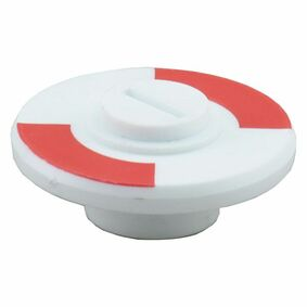 wc-plaatje 8mm rood-wit (set van 2 stuks)