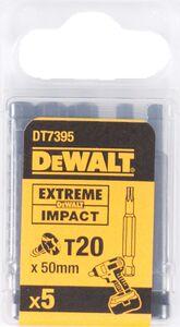 dewalt torx impact 50mm t20 dt7395-qz (set van 5 stuks)