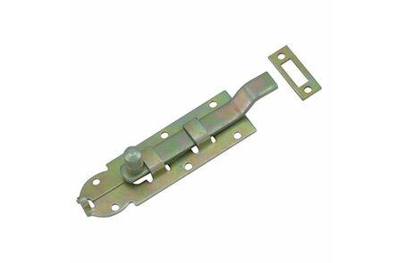 schuif met bocht en knop 60mm en sluitplaatje gebichromatiseerd
