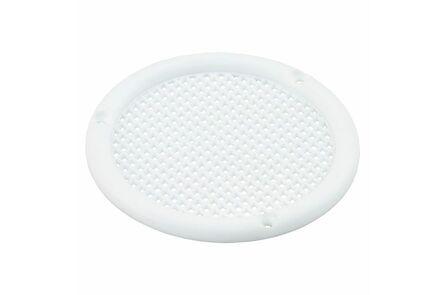 ventilatierooster 56mm zonder kraag rond wit
