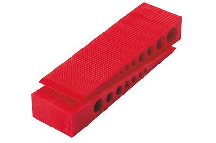 kunststof wig rood 150x45x25mm (set van 35 stuks)