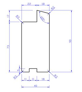 hardhout raamprofiel rp2 40x90x3350