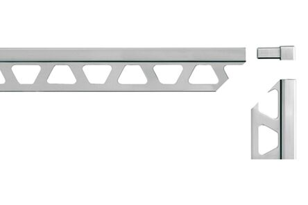 schluter hoekje aluminium voor q100bw 10mm wit