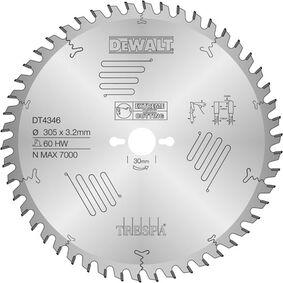 dewalt cirkelzaagblad trespa dt4346-qz 305/30