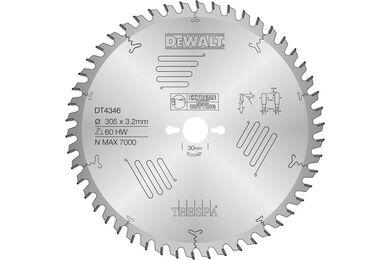 DEWALT DT4346-QZ Cirkelzaagblad 60-tands 305x30mm