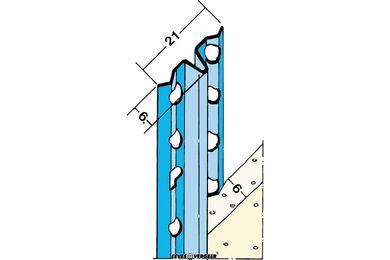Afreiprofielgeleider 1106 Verzinkt Staal 6x2600mm