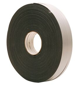 pe-band grijs 9x3mm rol 100m