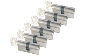 sx profielcilinder nikkel messing (set van 6 stuks) gelijksluitend skg2 60mm