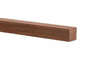 hardhout geschaafd gepunt 4rk 90x90x2750