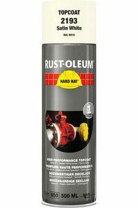 rustoleum hardhat verfspuitbus zijdeglans ral9010 wit 500ml