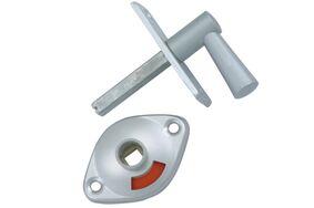 nemef wc-grendel aluminium 2661/4 50mm
