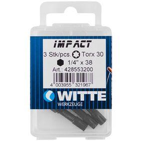 witte impact bit t20 (set van 3 stuks)
