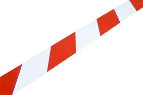 afzetlint rood/wit haspel 20m