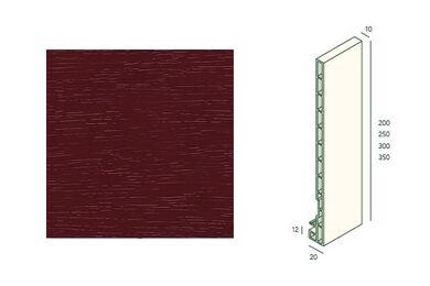 KERALIT Dakrandpaneel 200mm Wijnrood Classic Nerf L= 6000mm