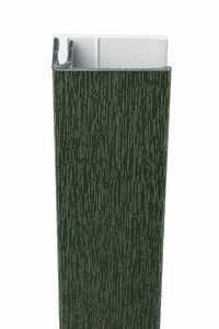 protex aluminium eindprofiel 2-delig donkergroen ral 6009 3000mm