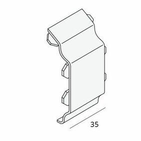 keralit sierlijst tussenstuk 2853 v 2850 trim/kraal vergrijsd ceder