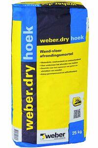 weber.dry hoek wand- en vloerafrondingsmortel 25kg