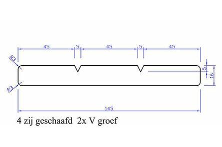 keruing plank geschaafd 4rk 15x145x4850