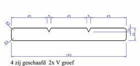 keruing plank geschaafd 4rk 15x145x3050