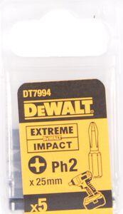 dewalt impact 25mm ph2 dt7394-qz (set van 5 stuks)