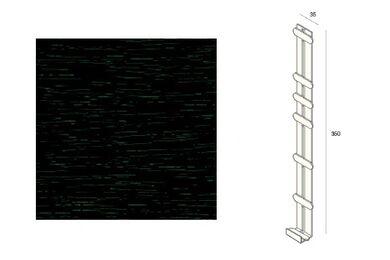 KERALIT 2848 Dakrand Tussenstuk 350mm Mon.Groen Classic Nerf
