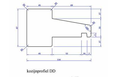 Meranti Kozijnprofiel Tussendorpel DD PEFC 67x114x2450mm