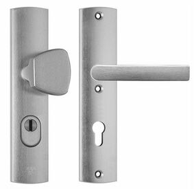 axa deurbeslag kruk/duwer 6665-51-11 72mm + kerntrekbeveiliging skg3