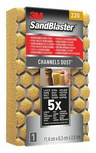 3m schuurblok sandblaster ultra p220 goud