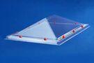 SKYLUX Lichtkoepel Piramyde vormig Polycarbonaat Opaal Dubbelwandig 100x100cm