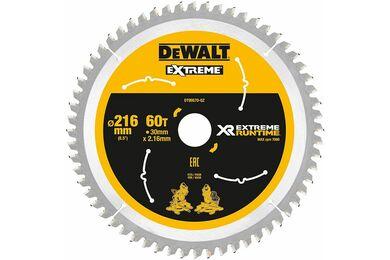 DEWALT DT99570-QZ Cirkelzaagblad Extreme Runtime 60-tands 216x30mm