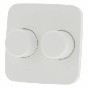 b-j reflex centraalplaat +knop dimmer polarwit