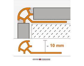 schluter tegelprofiel aluminium rond ro100bw 10x3000mm wit