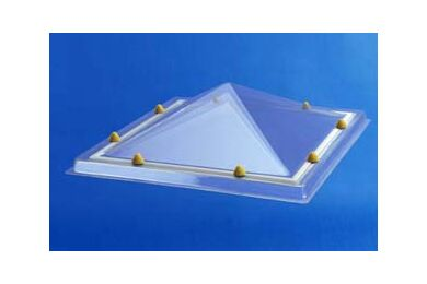 SKYLUX Lichtkoepel Piramyde vormig Acryl Opaal Triplewandig 75x75cm