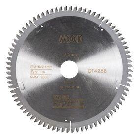 dewalt cirkelzaagblad 80tands dt4286-qz 216/30